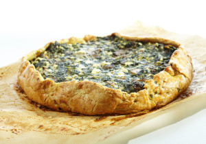 Spinach & Mushroom Tart  ©2014 by Annalise Roberts